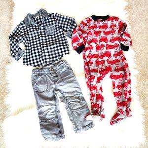 Bundle of Boys sleeper, top and pants 18 months